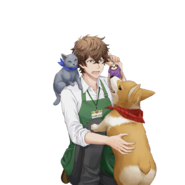 (Part-Time Job Scout) Futami Akabane SR Transparent