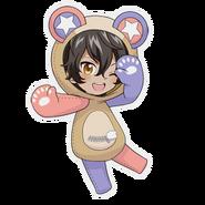 (Kumakocho Costume) Akira Mitsurugi SD Jump