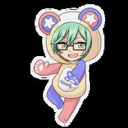 (Kumakocho Costume) Shiki Amabe SD Jump