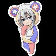 (Kumakocho Costume) Raku Wakaouji SD Pose