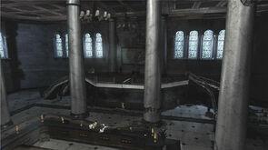 Inside grand building
