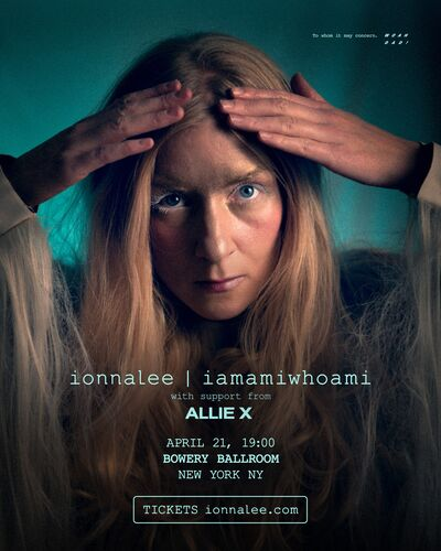 ionnalee; RTF tour - The Bowery Ballroom promo