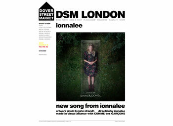Dover Street Market London ionnalee landing page