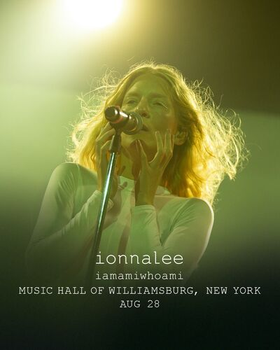 ionnalee; EABF tour - Music Hall of Williamsburg promo