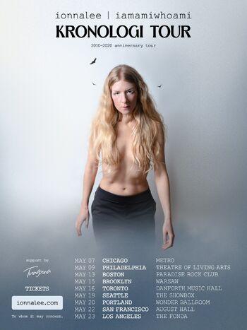 ionnalee - iamamiwhoami KRONOLOGI tour poster 01