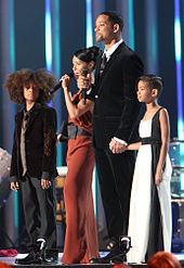 Nobel Peace Prize Concert December 11th 2009, in Oslo, Norway. Smith with wife Jada and children Jaden and Willow