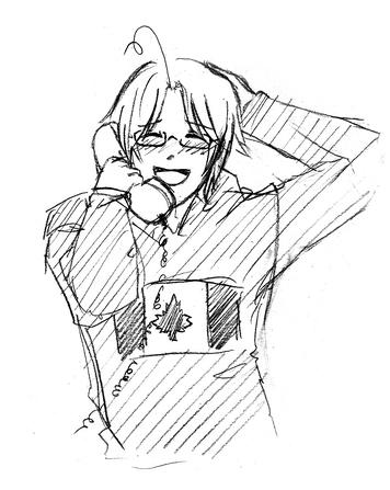 PhoneMatthew embarrassed - Nagisa Akimori