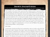 Sarah's Journal