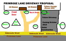 Primrose lane driveway proposal