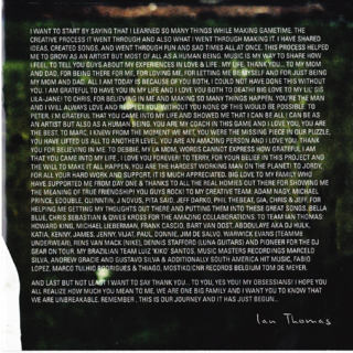 Page 2, Ian thanks his fans, family,...