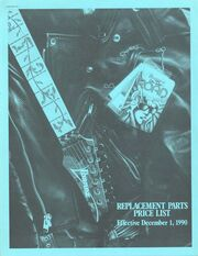 1991 USA parts price list front-cover