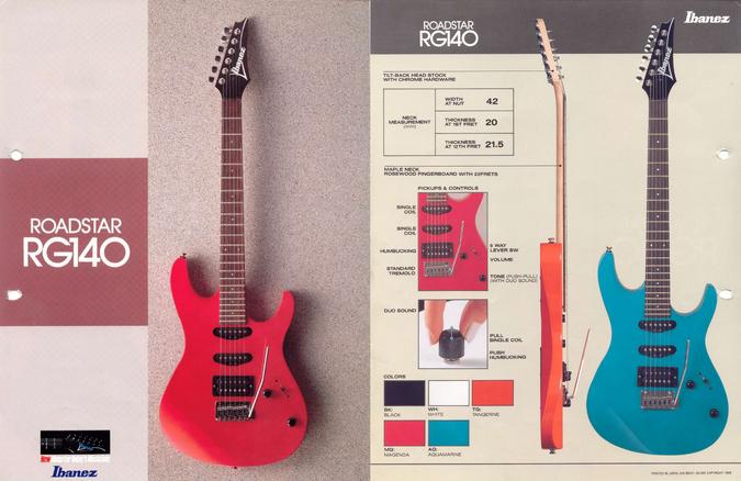 1988 Roadstar RG140 dealer sheet