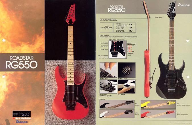 1988 Roadstar RG550 dealer sheet