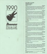 1990 April USA price list front-cover