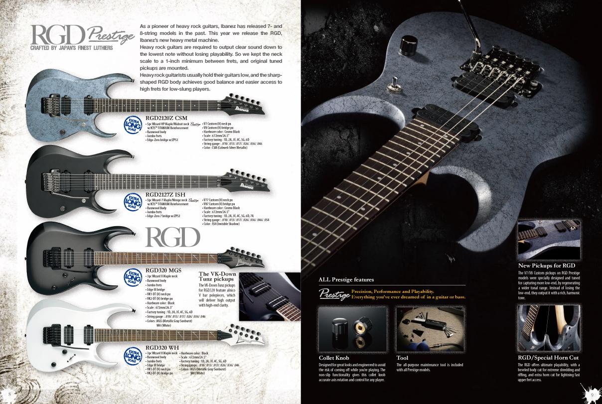 Ibanez RGD, 2010 catalog