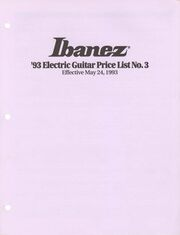 1993 May USA price list front-cover