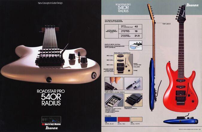 1988 RoadstarPro 540R dealer sheet