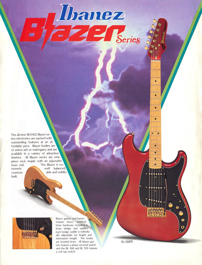 Blazer Series Ibanez Wiki Fandom Powered By Wikia Bass Guitar Wiring Diagram As Well 1981 Ad