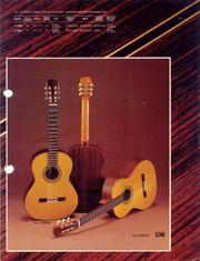 1976 Vintage Classic Guitars dealer sheet front