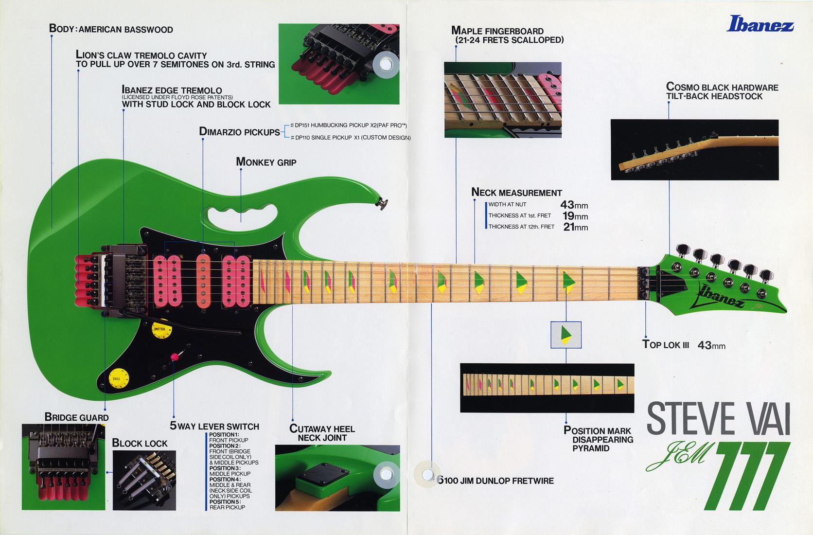 Pickup Wiring Diagram 1989 Ibanez Rg550 Free Download Diagrams Humbuckers Strat On Dual Humbucker Jem777 Wiki Fandom Powered By Wikia For