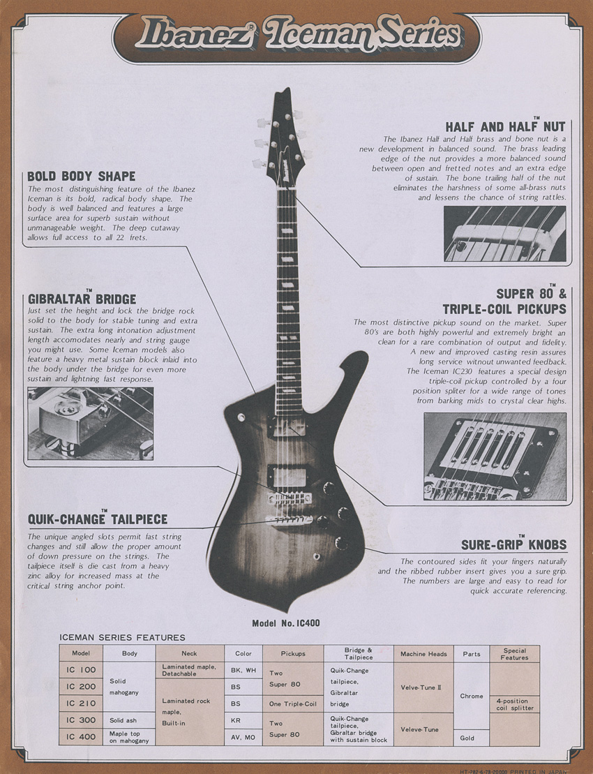 1978 Series Catalog Ibanez Wiki Fandom Powered By Wikia Electric Guitar Schematics 2 10 From 31 Votes Musician