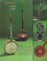 1975 Artist Banjo dealer sheet