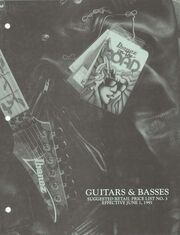 1991 June USA price list front-cover