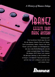 A History of Ibanez Delays-German front-cover