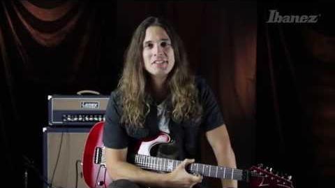 Kiko Loureiro and his new signature Ibanez guitar, the KIKO100TRR