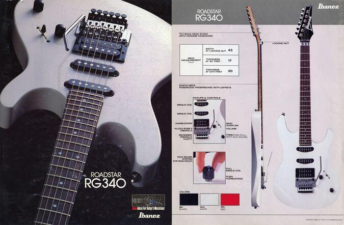1988 Roadstar RG340 dealer sheet