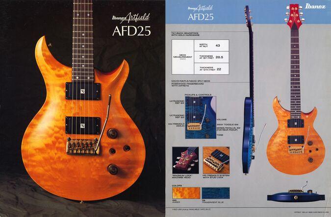 1988 Artfield AFD25 dealer sheet