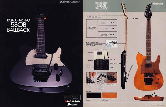 1988 RoadstarPro 580B dealer sheet