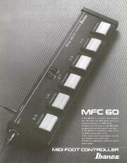 1987 MIDI foot controller front