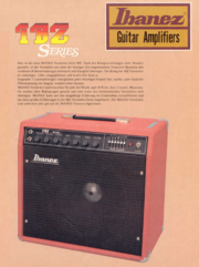 1979 Guitar Amplifiers IBZ Series front-cover