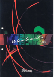 2001 Europe Urban acoustics catalog front-cover