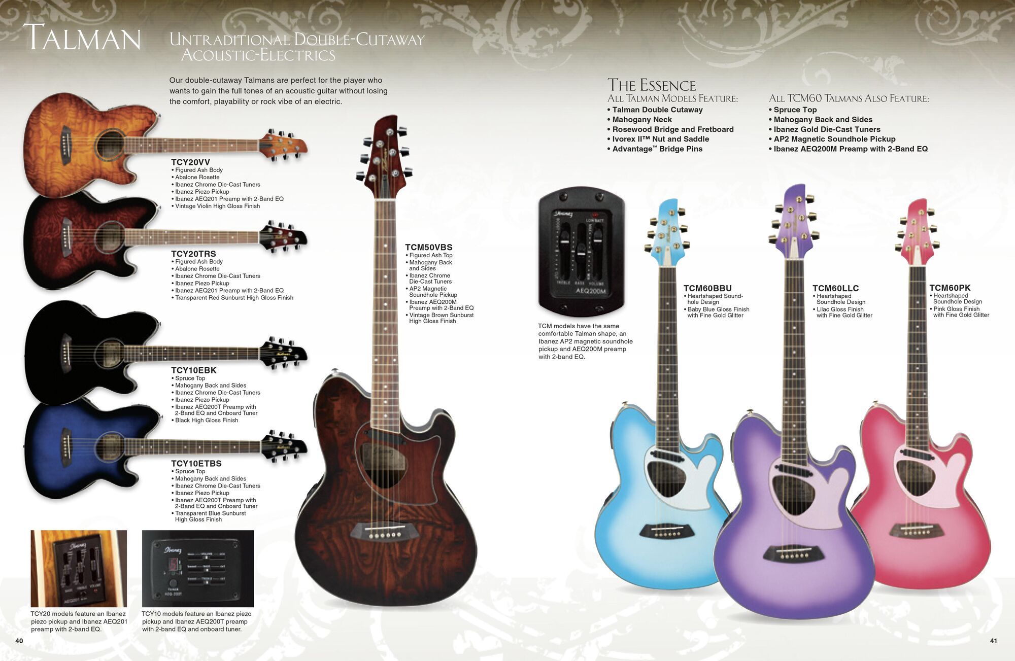 Image 2009 Usa Acoustics Catalog P40 41 Ibanez Wiki Fandom Electric Guitar Violin Preamplifier Powered By Wikia