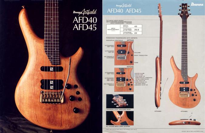 1988 Artfield AFD40-45 dealer sheet