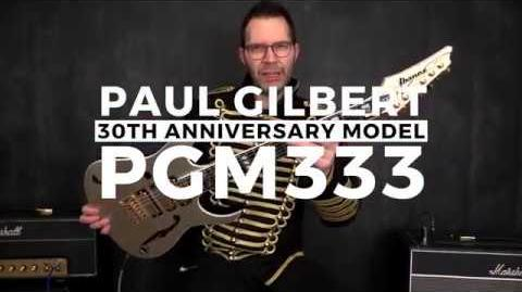 Paul Gilbert 30th Anniversary - Ibanez PGM333 Electric Guitar