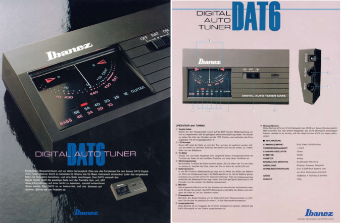 1986 DAT6 tuner German dealer sheet