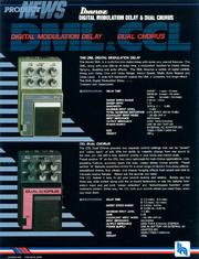 1986 DML-CML dealer sheet