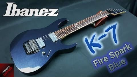 Ibanez K-7 Fire Spark Blue 2001 James Munky Shaffer K7 Korn Signature 7 string guitar close up video-0