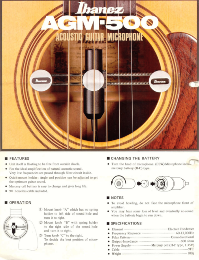 1980 Acoustic Guitar Microphone