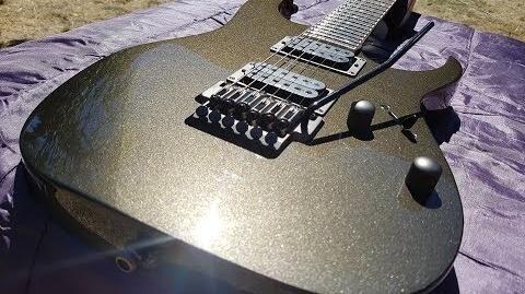 Ibanez RGT42 Black Pearl 2004 Korea Neck Through guitar close up video demonstration