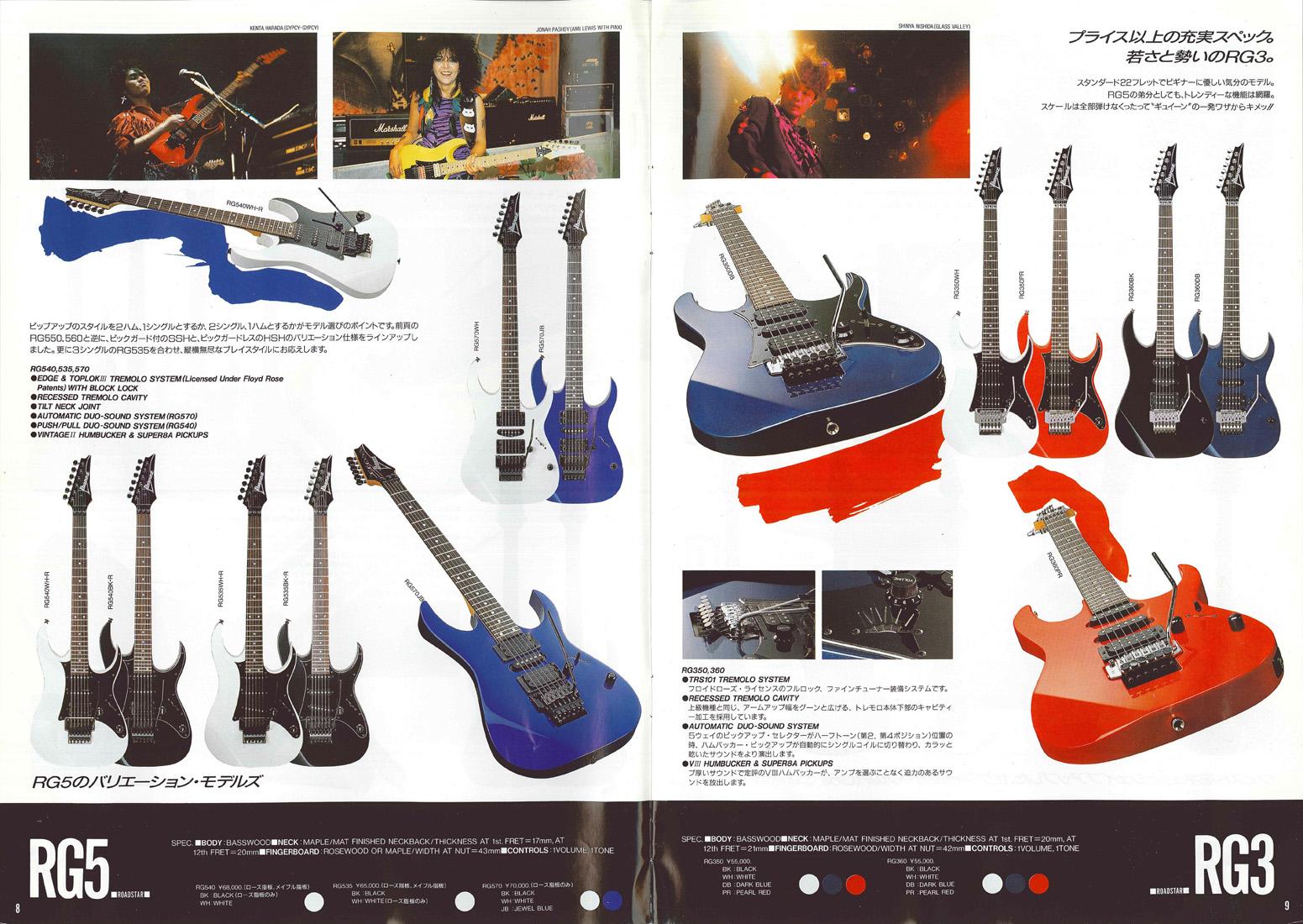 Image - 1989 Japan catalog p8-9.jpg | Ibanez Wiki | FANDOM powered ...