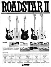 1984 Roadstar II dealer sheet front