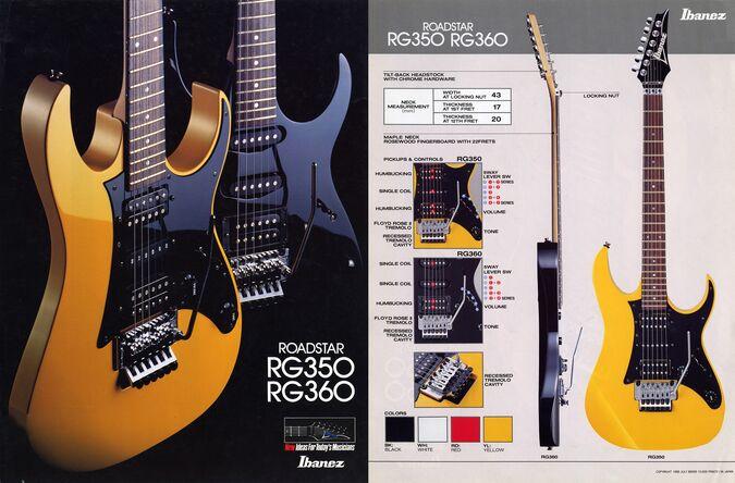 1988 Roadstar RG350-360 dealer sheet