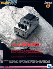 1988 L.A. Metal LM7 dealer sheet