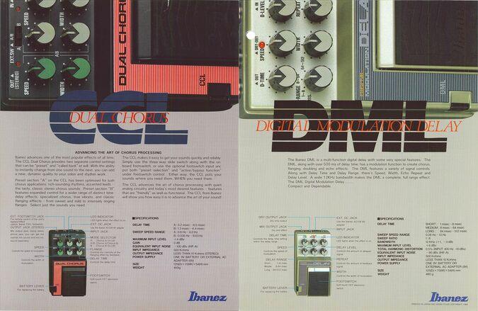 1986 Compact effects dealer sheet