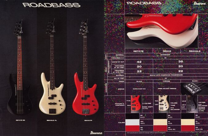 1987 Roadbass dealer sheet