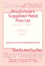 1978-08 Acoustic price list front-cover
